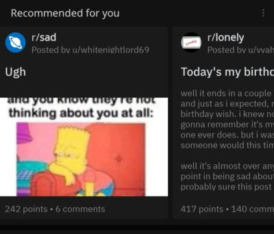 My recommended reddit subs :(