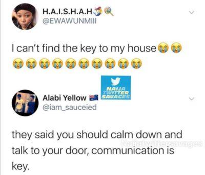 Punny response