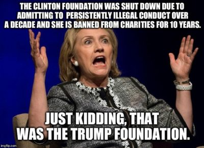 Spread the word about Shillary's illegal foundation!