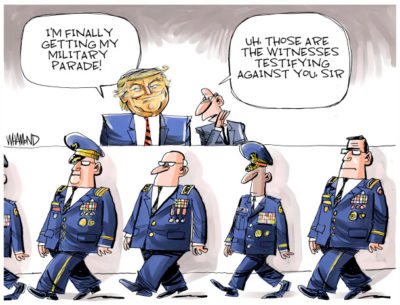 Trump gets his parade