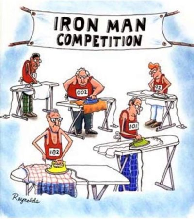 My dad told me he was entering an Iron Man competition then sent me this.