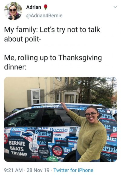 Thanksgiving and politics at the dinner table…