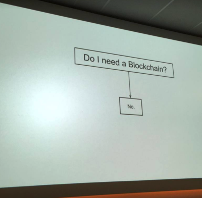 A true slide for blockchain