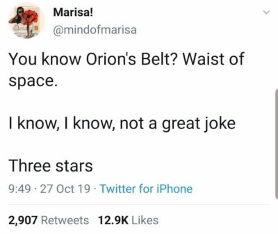Only 3 stars for waist of space…