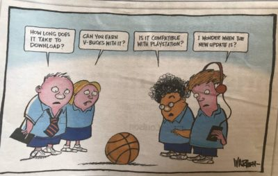 In this morning's Boomer Bible. NSW, Australia. An original and cutting criticism of today's youth.
