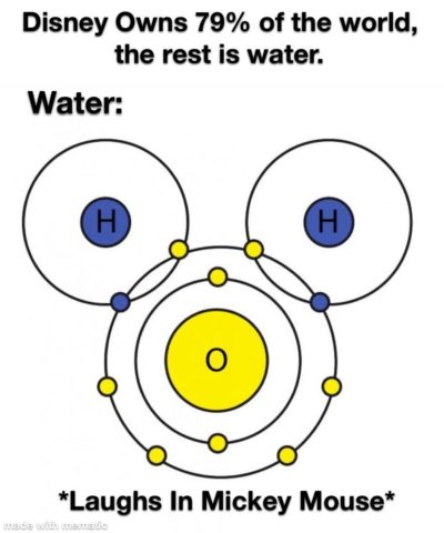 Oh god… Disney has taken over our water…