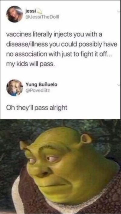yeah shrek really had something to add to this