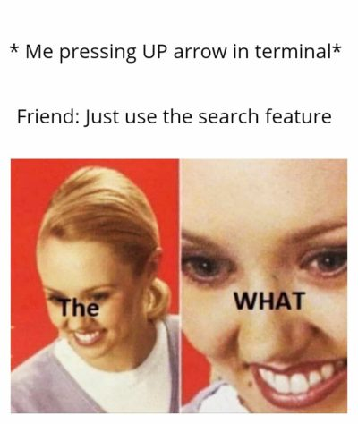 I would have kept pressing the UP arrow till eternity.