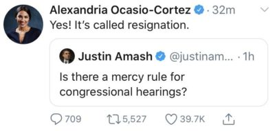 When Alexandria Ocasio-Cortez did another mic drop …