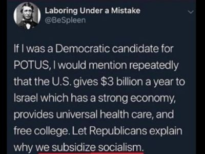 We can't be subsidizing socialism, Donald would never allow that