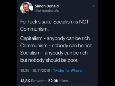 Socialism is not Communism