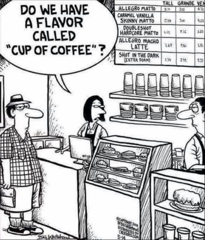 Flavored coffee bad
