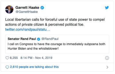 """Rand """"don't tread on me"""" Paul."""