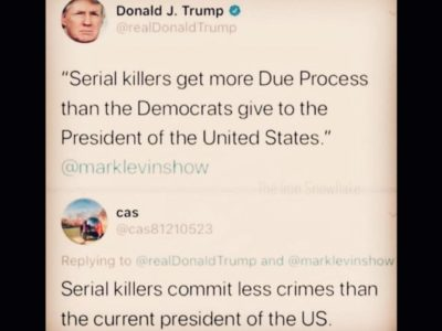 Try cutting back on the crimes a little Donald