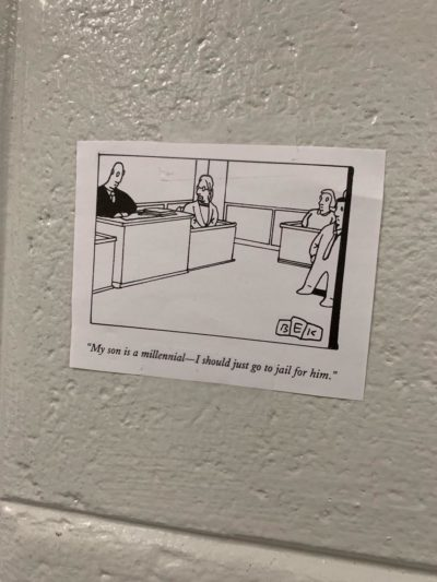 Found on the wall behind the printers at work