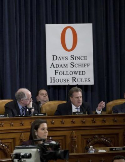 "The republicans didn't think this one through: ""0 days since Adam Schiff followed House rules"" means that he's currently following them"