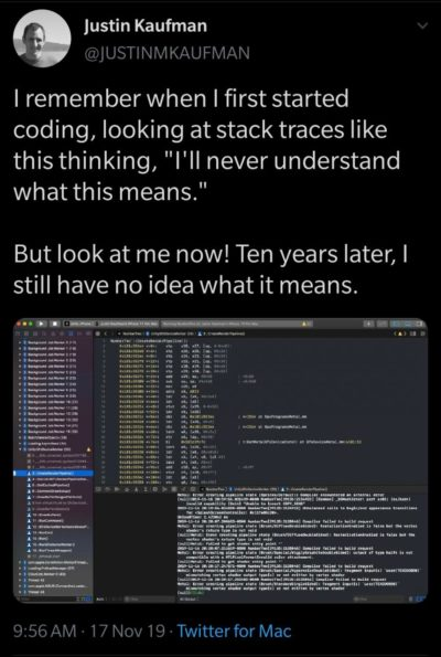 Understanding stack traces is an art