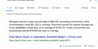 Biologists earn what?!