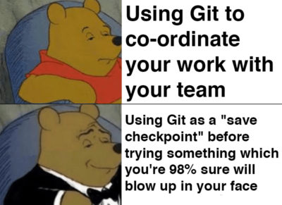 "git stash save ""It went to fuck"""