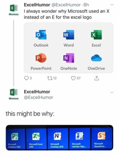 Excel being dumped.