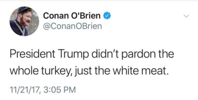 Speaking of pardons