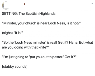 Meanwhile, in Scotland…