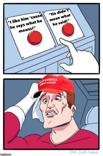 The Trump supporter dilemma