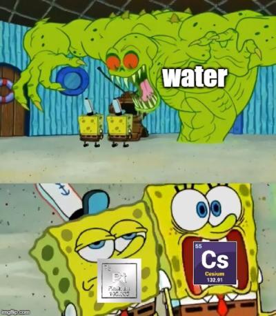 Cs+water=boom