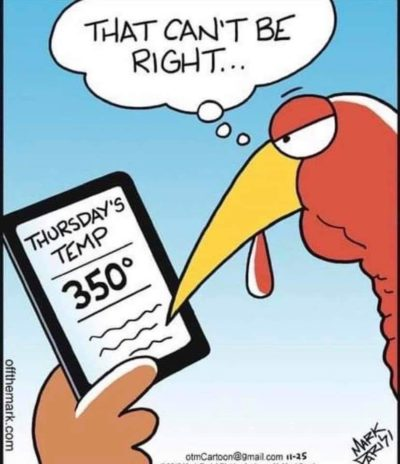 Turkey day is a rally cry for boomer comics