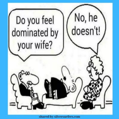 Funny because wife = bad