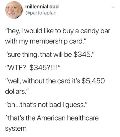 American healthcare system in a nutshell
