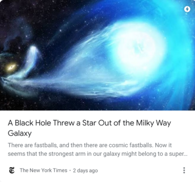 You know when a black hole just goes yeet