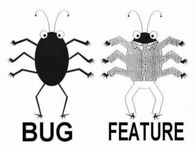 Its not a bug , its a feature