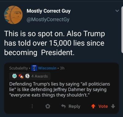 Trump is the Ghengis Khan of lying
