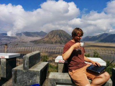 Triple JAVA – me coding Java, whilst drinking Java and being in Java, Indonesia