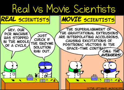 The difference between real and movie science