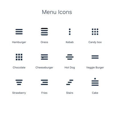 More menu icons!