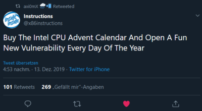 Intel CPU Advent Calendar