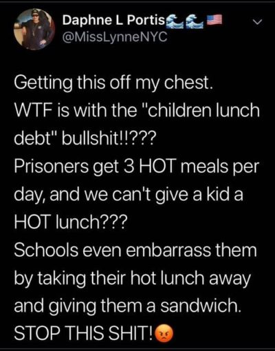 Children Lunch Debt