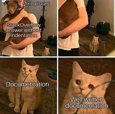 Do they copy documentation from StackOverflow?