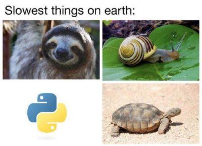 Python vs C++, java, etc