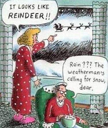 Reindeer sounds like rain dear haha so funny 😐