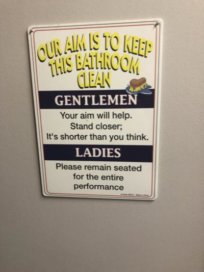 This sign at a restaurant me and my friends go to every weekend. Rip men.