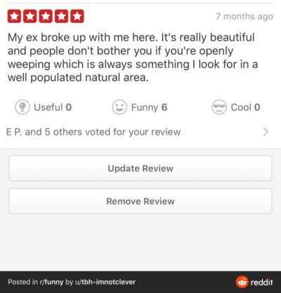 Ouch from yelp