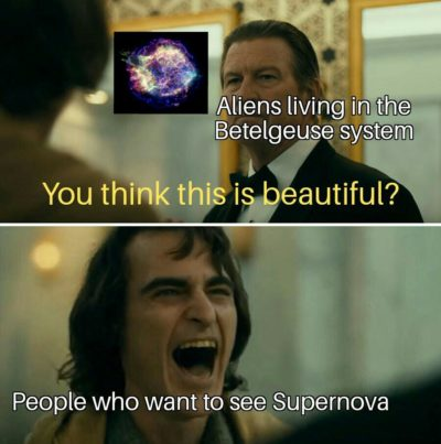 No one thinks about aliens
