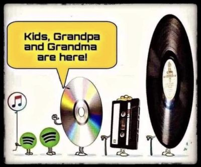 'What about the resurgence of vinyls amongst the youth?'