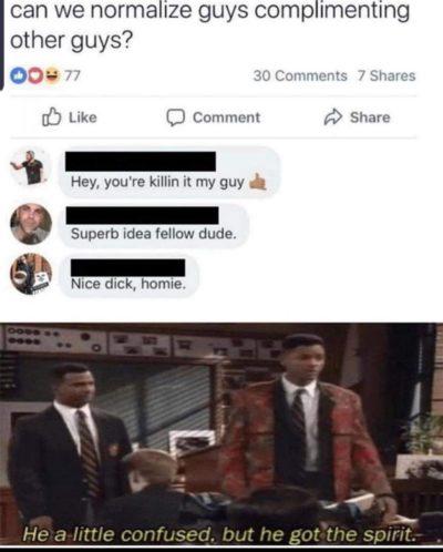 No homo bro.