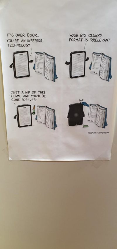 Technology stupid/ Book good ( found on r/fellowkids, OP u/PowerPond)