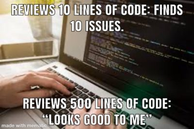 Code reviews be like