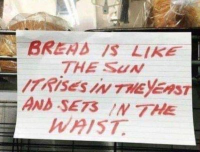 Bread is like the Sun